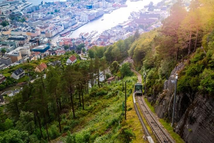 挪威奇緣,挪威旅遊絕不能錯過的10大景點 挪威 佛洛伊恩山 2