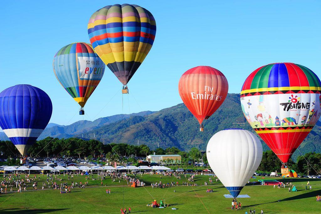 山富大富翁| 環遊台灣 玩美你的世界地圖 山富大富翁 台灣東部 台東鹿野高台熱氣球